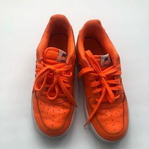 Preloved Bright Orange Nike Air Force 1